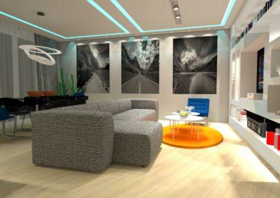 salon z jadalnią - mieszkanie w Bydgoszczy, pow. 33 m2